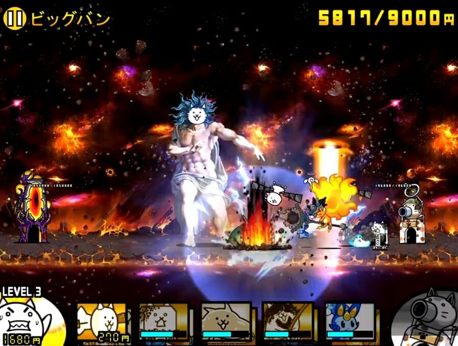 火の精霊メララの戦闘シーン